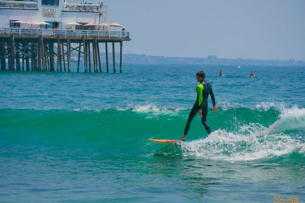 малибу, серф спот, катание на пляже малибу, серфинг в малибу